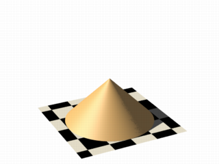 Isosurface sample (cone function)