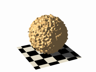 Isosurface sample (noise3d on sphere scaled)