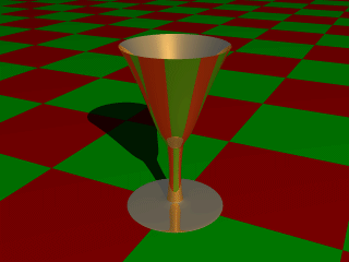 A surface of revolution object.