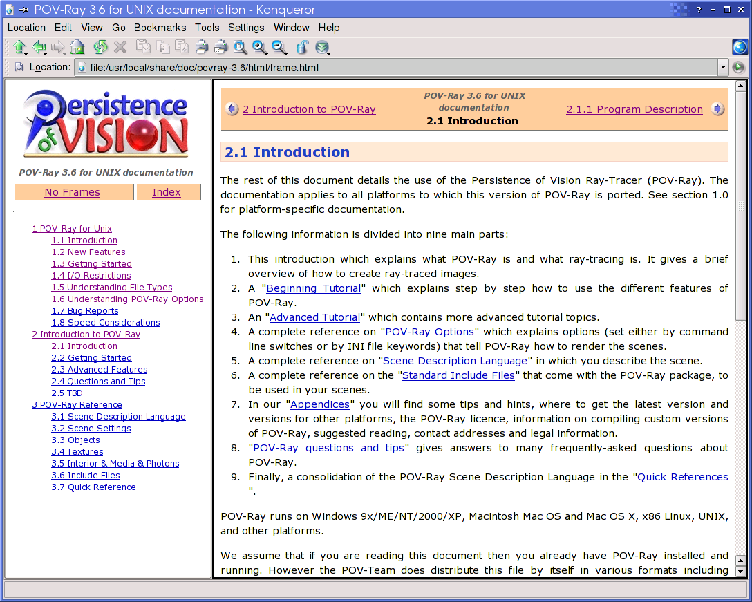 POV-Ray: Download: New features in POV-Ray 3 6 for Unix